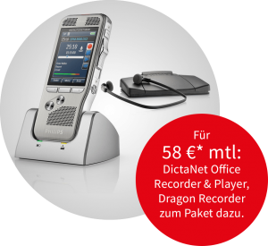 Philips Memo Pocket und Philips Transcription-Set Angebot