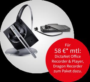 Sennheiser-Headset und Philips Transcription-Set Angebot