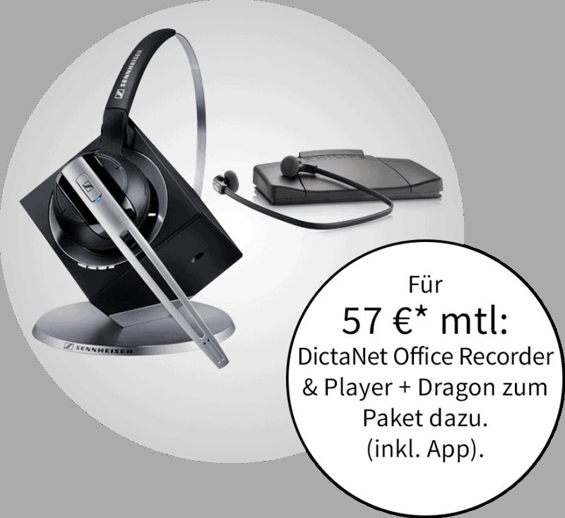 Unser Angebot mit Headset von Sennheiser und Transkriptionsset